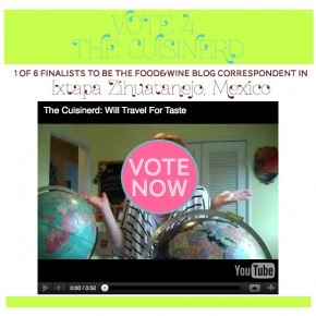 VOTE FOR THE CUISINERD: FOOD & WINE CORRESPONDENT