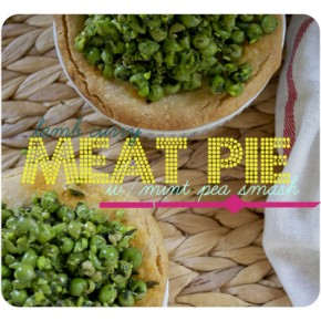 Lamb Curry Meat Pie w/ Minted Peas