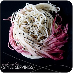 Style Servings: Pink Ombr Somen Noodles
