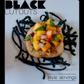 Style Servings: Black Cutouts & Squid Ink Squash Cracker