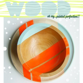 Design Crush: Nicole Porter's Painted Wood For Your Tabletop