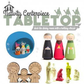 A Well Dressed Holiday: Christmas Nativity Table Centerpeice Ideas