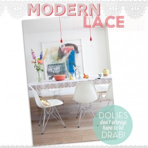 Trim Trend: Modern Lace Inspired Design For Your Kitchen & Table