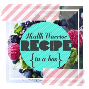 Health Warrior Recipe In A Box: Acai Berry Chia Bar Smoothie
