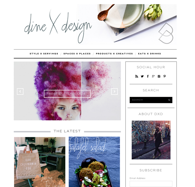 Dine X Design | New Website | Kristin Guy